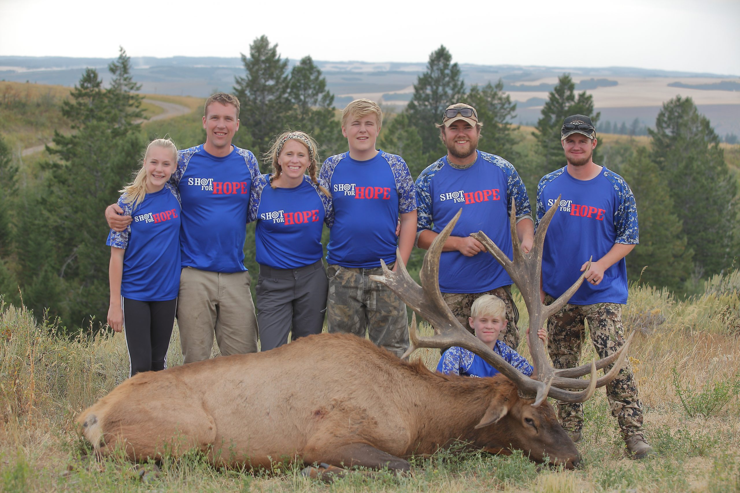 Family guides and elk